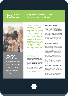 Benefits of Employment Branding