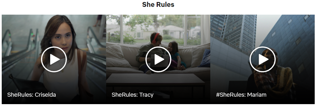 SheRules Netflix screenshot