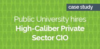 Public University hires High-Caliber Private Sector CIO GREEN