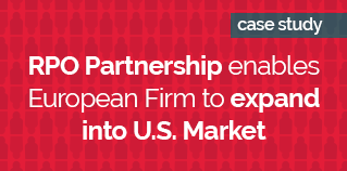 RPO Partnership enables European Firm to expand into U.S. Market RED