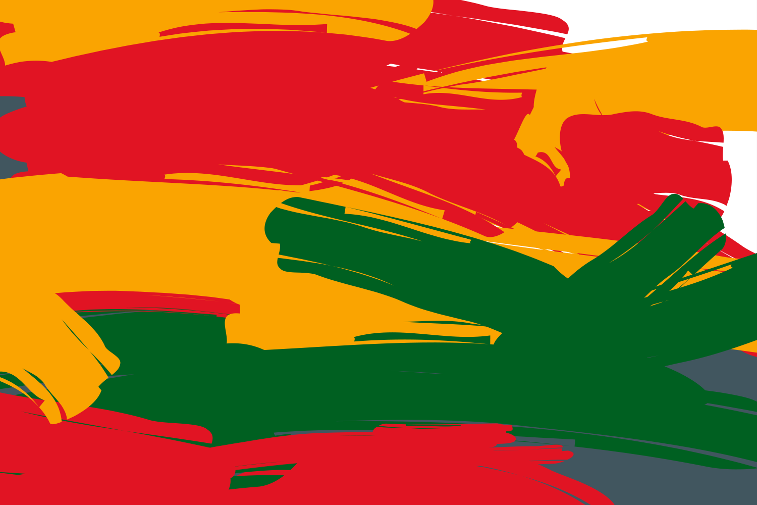 colorful red, yellow, and green banner representing  Black History Month